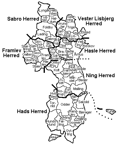 Danish Family Search Map of Area