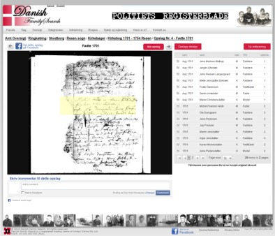 Viewing original sources Danish Family Search